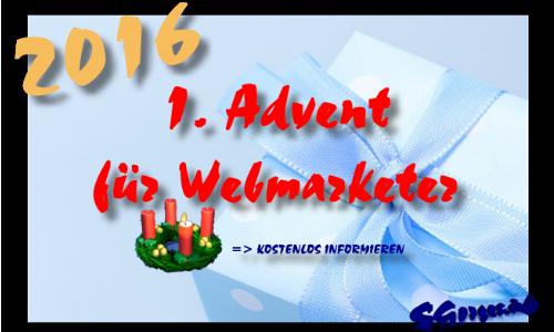 1.Advent Weihnachten 2016